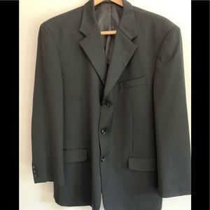 Jones New York,  wool sport jacket, 44R. Black